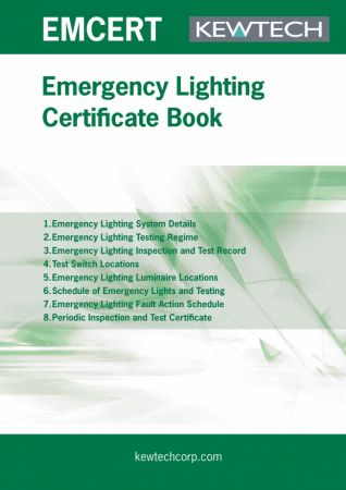 Kewtech EMCERT Emergency Lighting Certification Book