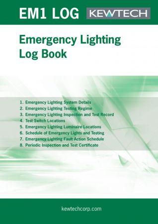 Kewtech Emergency Lighting Log Book | EMLOG