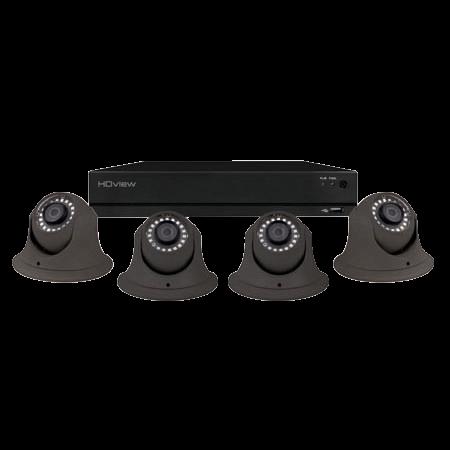ESP DigiviewHD+ 4 Channel Super HD 2TB Grey Dome Camera CCTV System SHDV4KD4G2TB