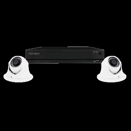 ESP DigiviewHD+ 4 Channel Super HD 4TB White Dome Camera CCTV System SHDV4KD2W4TB