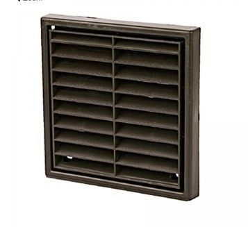 """4"""" 100mm Wall Grill - Fixed Louvre - Brown"""