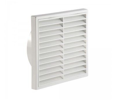 """4"""" 100mm Wall Grill - Fixed Louvre - White"""