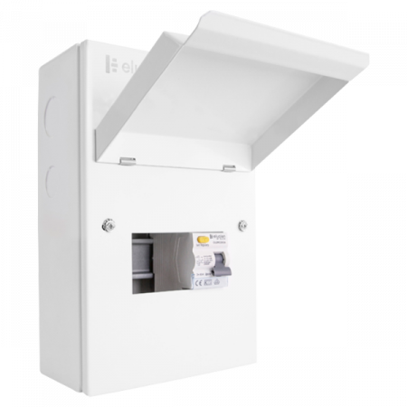 Click Elucian 5 Way Metal Garage Unit with 63A RCD | GUEB563RCD3 | Alert Electrical