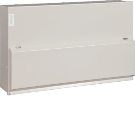 Hager Design 10 Metal 14 Way Consumer Unit & 100A Switch Incomer VML114