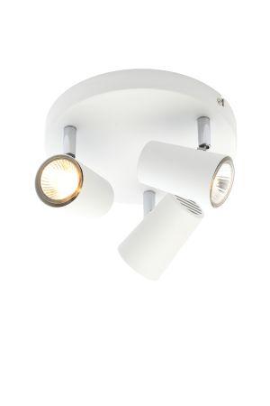 Inlight Harvey 3 Light GU10 Spotlight Plate White
