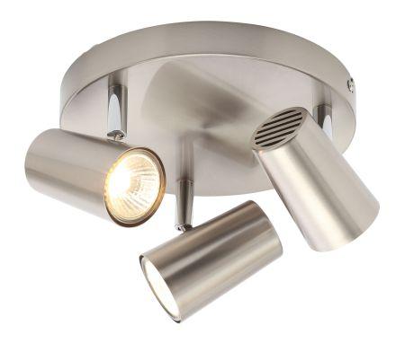 Inlight Harvey 3 Light GU10 Spotlight Plate Satin Nickel