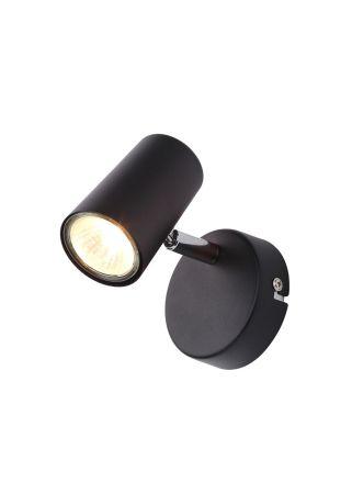 Inlight Harvey 1 Light GU10 Single Spotlight Black