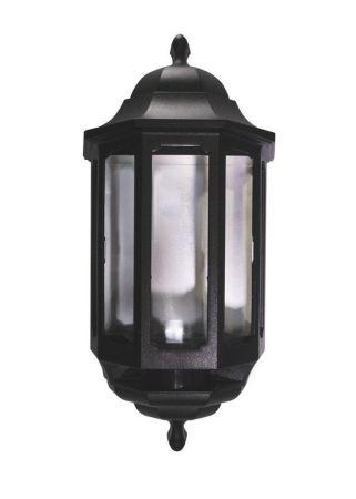 ASD Lighting HLBK060P Black Polycarbonate 60w PIR Half Wall Lantern