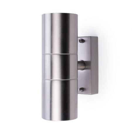 Hispec Coral Up & Down Wall Light Stainless Steel | HSLEDUL