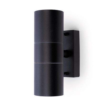 Hispec Coral Up and Down Wall Light Black | HSLEDUL/BLK