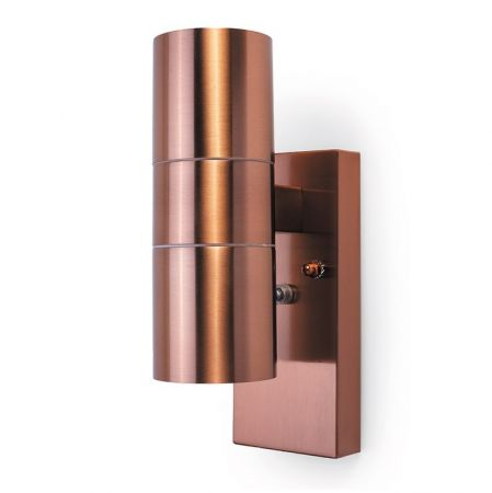 Hispec Up and Down Wall Light with Photocell Sensor Copper | HSLEDUL/PC/COP