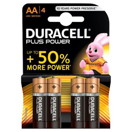DURACELL Plus Power AA 4 Pack Battery pack MN1500