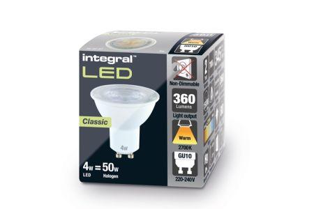Integral LED 4W 2700K 360lm Non-Dimmable LED GU10 | ILGU10NC102
