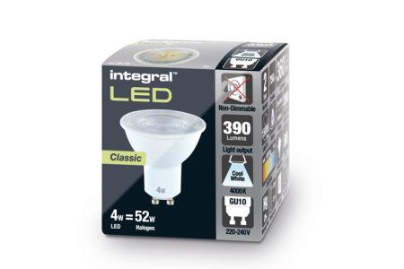 Integral LED 4W 4000K 390lm Non-Dimmable LED GU10 |  ILGU10NE103