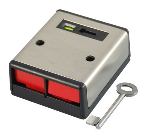 CQR Double Push Panic Button Stainless Steel | PADP2/SS/G1
