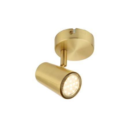 Inlight Harvey 1 Light GU10 Single Spotlight Satin Brass | INL-31775-SBRS