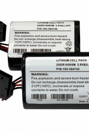 Visonic Replacement Battery for MCS-740 Bell Box (Pack Of 2) | 103-304742