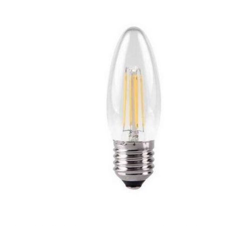 osnic 4w Dimmable LED Filament Candle Lamp E27 Warm White KDFL04CNDE27CLR27