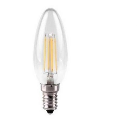 Kosnic 4w Dimmable LED Filament Candle Lamp E14/SES Warm White KDFL04CNDE14CLR27