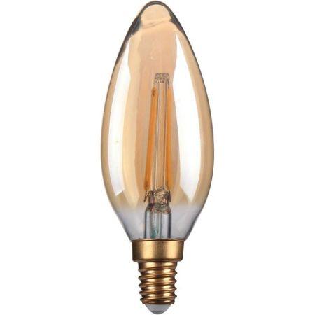 Kosnic Lamps 2w Decorative LED Filament Gold Candle Lamp E14/SES KFLM02CNDE14-GLD