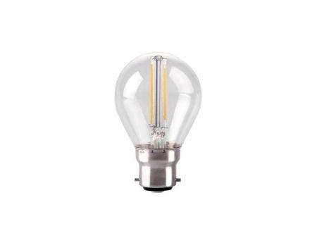 Kosnic 2w LED Filament Clear Golf Lamp BC/B22 2700K KFLM02GLFB22-CLR