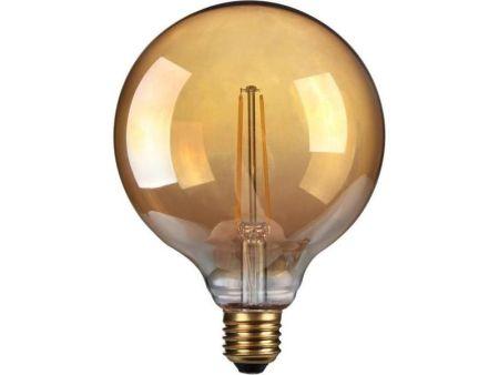 Kosnic Lamps 4w Decorative LED Filament Gold 125mm Globe Lamp E27/ES KFLM04G125E27-GLD