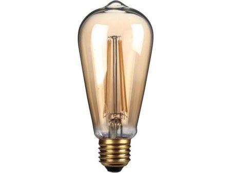 Kosnic Lamps 4w Decorative LED Filament Gold ST64 Lamp E27/ES KFLM04ST64E27-GLD