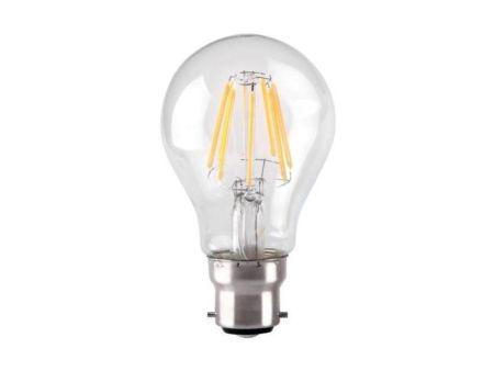 Kosnic 7w LED Dimmable Filament GLS Lamp BC/B22 2700K