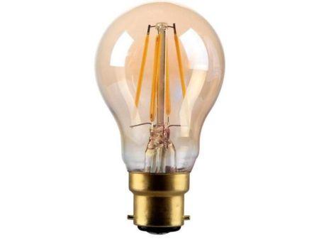 Kosnic Lamps 4w Decorative LED Filament Gold GLS Lamp B22/BC