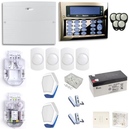 Texecom Premier Elite Burglar Alarm System With Brass Surface Mount Keypad