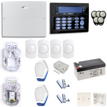 Texecom Premier Elite Burglar Alarm System With Diamond Black Surface Mount Keypad | KIT10-DBD0130