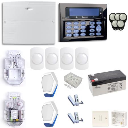 Texecom Premier Elite Burglar Alarm System With Gunmetal Surface Mount Keypad   KIT10-DBD0131