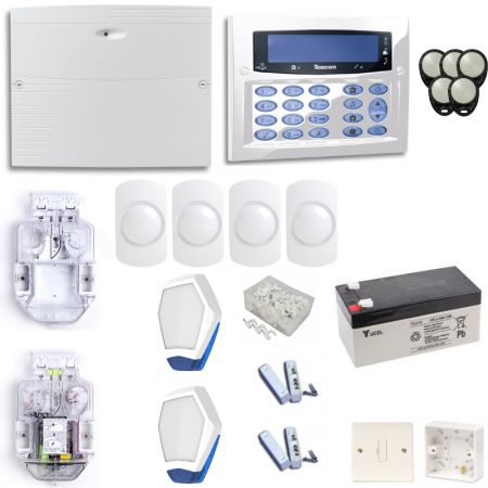 Texecom Premier Elite Burglar Alarm System With Diamond White Surface Mount Keypad