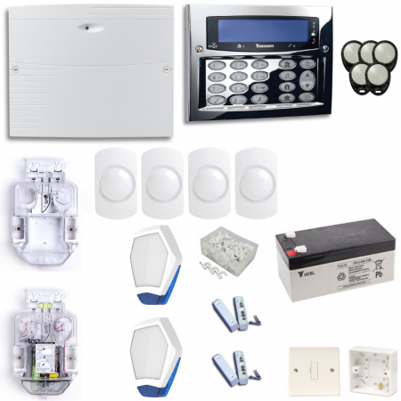 Texecom Premier Elite Burglar Alarm System With Chrome Flush Mount Keypad