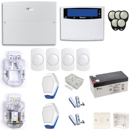 Texecom Premier Elite Burglar Alarm System With LCDLP LCD Keypad | KIT10-DBD0168