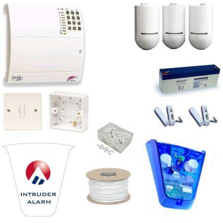 Scantronic 9448EUR90 Fully Featured Pet Tolerant Burglar Alarm Kit with Alert Bellbox