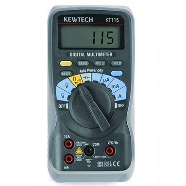 Kewtech KT115 Digital 600V & 10A AC/DC Multimeter