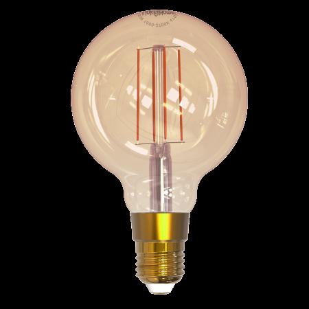 Link2Home E27 5.5W Wi-Fi LED Gold Balloon Filament Smart Light Bulb | L2HFE27L6W