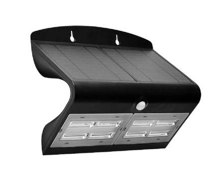Luceco Guardian 6.8W LED IP44 Solar PIR 800LM Wall Light Black | LEXS80B40