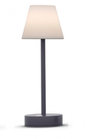 Be Happy LOLA SLIM30 USB Rechargeable Table Lamp Anthracite | LUMLLS030ANWLNW