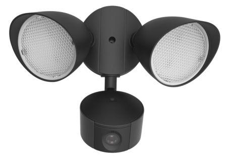 Lutec Draco 20w LED Camera Light Twin Head Flood Light Matt Black | 7622206012