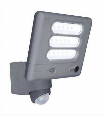 Lutec ESA 25W LED IP54 Floodlight with Wi-Fi HD Camera Grey