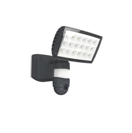 Lutec Peri 25W LED Floodlight With PIR Sensor and HD Wi-Fi Camera Grey