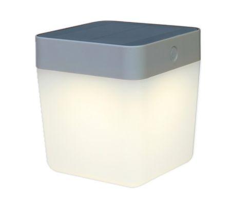 Lutec Portable Solar Table Cube in Silver | 6908001337