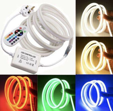 Luxlite IP65 Plug & Play RGB Neon flexible LED Strip Kit | CP-NEONRGBSKIP65-5M