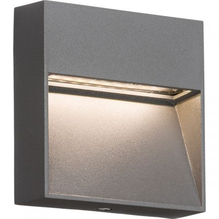 Knightsbridge LWS2G IP44 2W LED Square Wall/Guide Light in Grey
