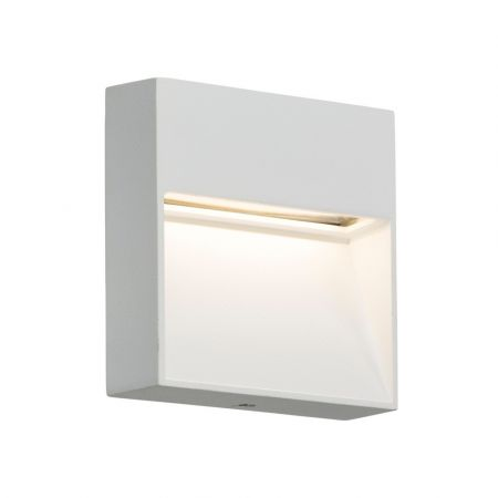 Knightsbridge LWS2W IP44 2W LED Square Wall/Guide Light in White