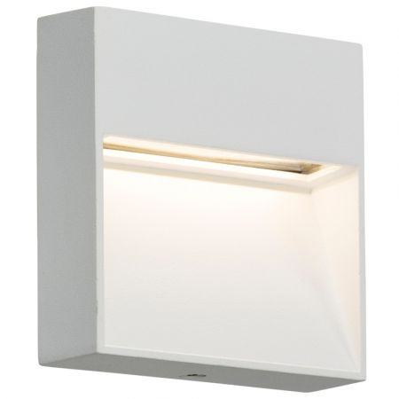 Knightsbridge LWS4W IP44 4W LED Square Wall/Guide Light in White