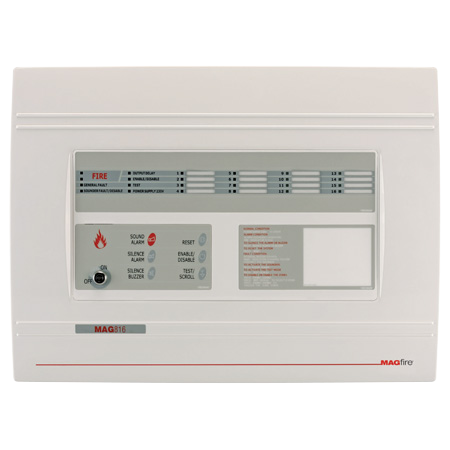 ESP MAGFIRE 8 Zone Fire Panel Expandable to 16 Zones   MAG816