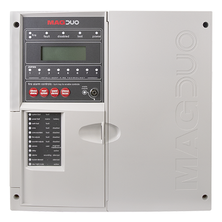 ESP MAGDUO 8 Zone Two-Wire fire alarm Panel White | MAGDUO8